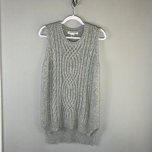 Cotton Emporium Gray Sweater Vest